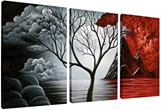 Wieco Art The Cloud Tree Wall Art Oil PaintingS Giclee Landscape Canvas Prints for Home..