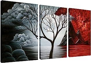 وایکو هنر درخت نقاشی دیواری هنر نقاشی بافت نقاشی نقاشی بافت نقاشی دیواری برای دکوراسیون خانه، 3 پانل