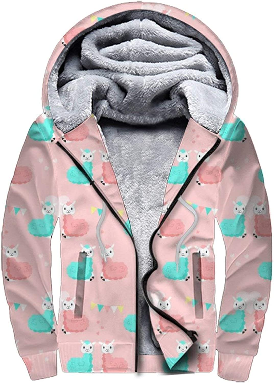 Atlanta Mall Men's Fleece Direct stock discount Hoodies Full Zip Pu Winter Sweatshirt Thick Hooded