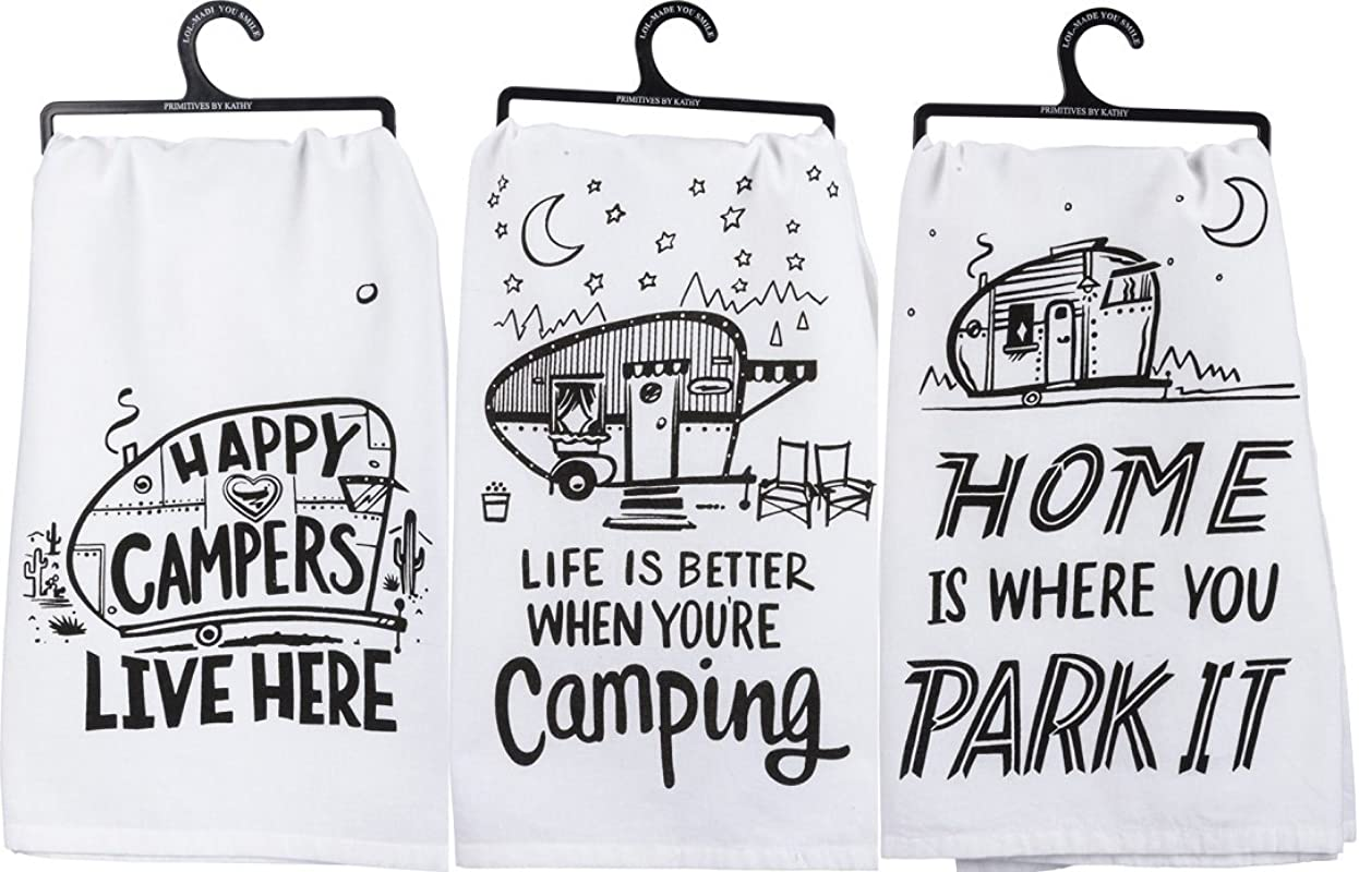 Primitives By Kathy Kitchen Towel Bundle Happy Campers Park It Better Camping