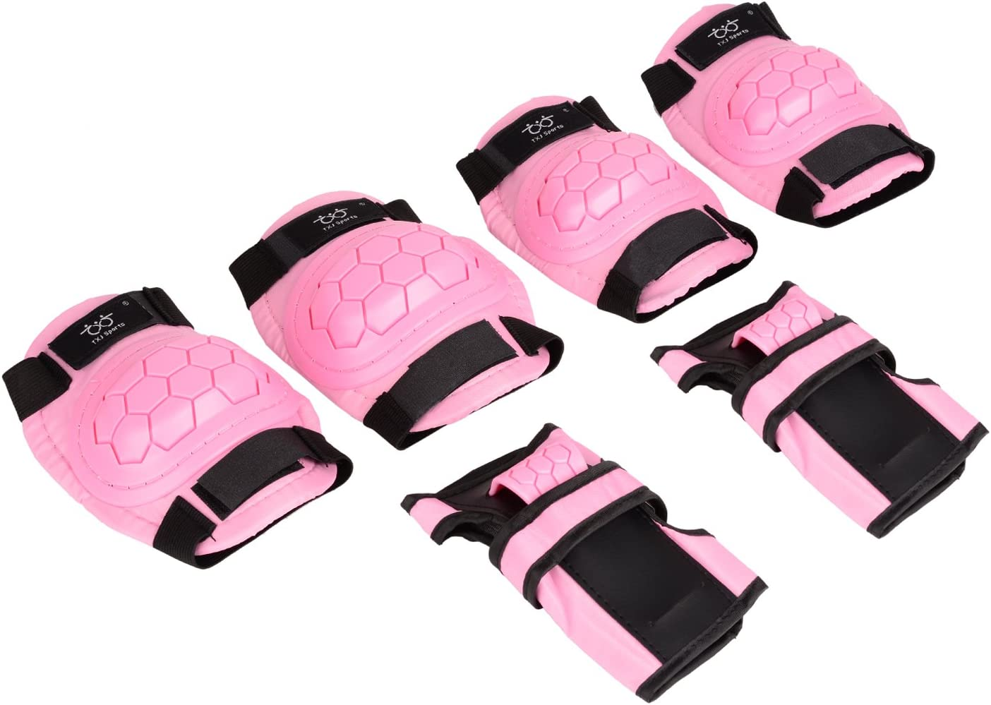 Kids Knee Pads Elbow Pads and Wrist Guards Protective Gear Set Skateboard Pads for Skating Rollerblading BMX Scooter Cycling