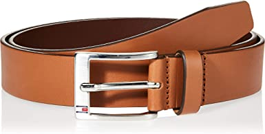 Tommy Hilfiger Flag Buckle Leather Belt Cinturón para Hombre