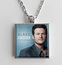 Album Cover Art Necklace Blake Shelton Red River Blue