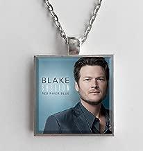 Album Cover Art Necklace Blake Shelton Red River Blue