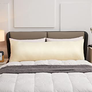 "Lipo Body Pillow Cover, 100% Cotton, 800 Thread Count, Super Soft & Cozy 21"" x 54"" Body Pillow Pillow Cases, Cream"