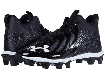Under Armour Kids Spotlight Franchise RM Jr (Big Kid) (Black/White/White) Kids Shoes