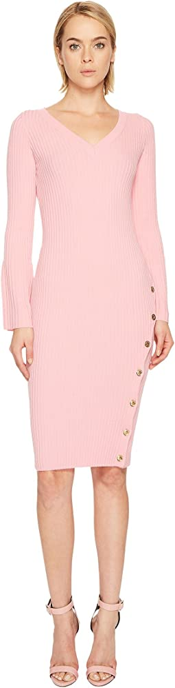 Boutique Moschino - Long Sleeve Knit Bodycon Dress