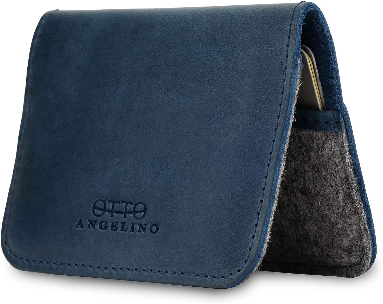 Otto Angelino Genuine Leather Ultra Slim Minimalist Cardholder Wallet - Unisex