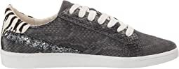 Charcoal Snake Print Leather