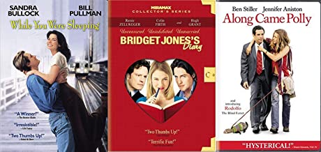 Unmarried Threesome DVD Romance Bridget Jone's Diary & Along Came Polly + While You Were Sleeping Sandra Bullock 3-DVD Comedy & Triple Feature Collection Bundle