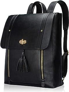ESTARER Womens Faux Leather Laptop Backpack Computer Bookbag for College School Work