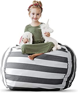 Extra Large Stuff 'n Sit - Stuffed Animal Storage Bean Bag Cover by Creative QT - Available in 2 Sizes and 5 Patterns - Cl...