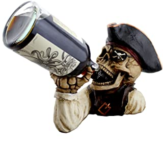 """DWK """"Booty of the Vine"""" Skull Pirate Bottle Holder 