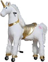 Medallion - My Pony Ride On Real Walking Horse for Children 5 to 12 Years Old or Up to 110 Pounds (Color Medium Golden Uni...