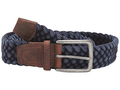 Torino Leather Co. 35 mm Italian Washed Woven Cotton (Navy) Men