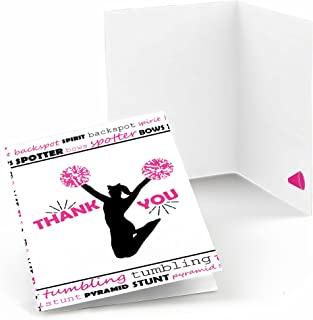 Big Dot of Happiness We've Got Spirit - Cheerleading - Birthday Party or Cheerleader Party Thank You Cards (8 Count)