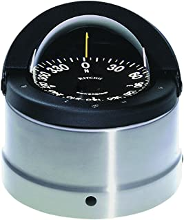 Ritchie Navigater Compass Flat-Card Dial with Flush Mount and 12V Green Night Lighting (Black, 4 1/2-Inch)