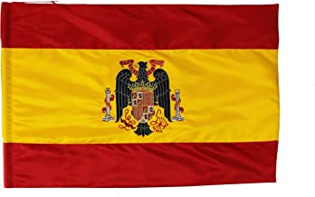 ABBE Global Bandera Bordada de España con Escudo de Franco: Amazon.es: Hogar