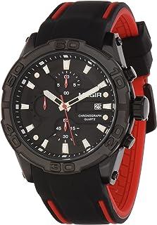 ساعة للرجال من ميجر، مع حركة الكوارتز وعرض كرونوغراف وسوار من السيليكون - طراز 2055G
