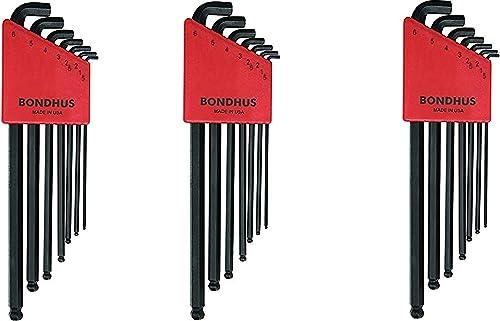 Bondhus 16592 Set of 7 Balldriver Stubby L-wrenches, sizes 1.5-6mm (3)