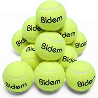 Bidem Tennis Balls, Pressurized Tennis Ball for Tournament and Practice-Pack of 12