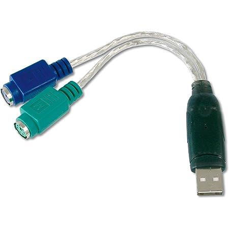 Digitus DA70118 Adattatore Ps2/USB per Connettere Mouse e Tastiera PS/2 alla Porta USB Tipo A