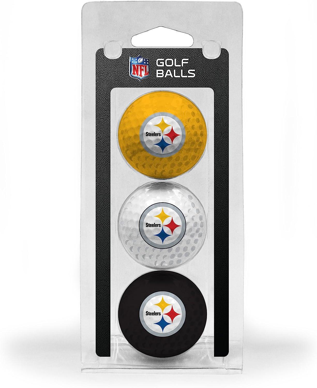 Team Golf NFL Pittsburgh 2021 model Steelers Balls 3 Regulation Size security
