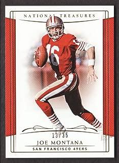 2018 Panini National Treasures Football Gold #85 Joe Montana 13/35 San Francisco 49ers