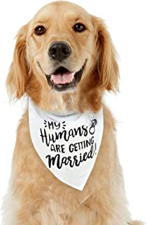 My Humans are Getting Married Dog Bandana - Wedding Dog Bandana - Made from Soft, Comfortable and Fur-Friendly Fabric - Pet Scarf for Small to Large-Sized Dogs - Dog Engagement Announcement