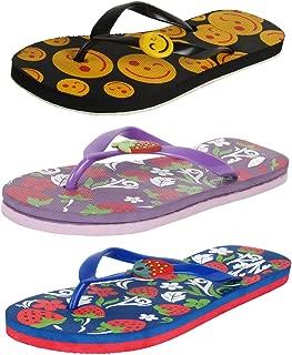 Bersache Women Pack of 3 Flip-Flops & House Slippers
