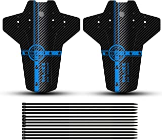 YOLOKE Bike Fender, 2PCS Front and Rear MTB Mud Guard, Adjustable Mountain Bicycle Fenders Mudguards Fits 20