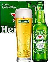 """【Amazon.co.jp限定】 [瓶ビール]ハイネケン 瓶 オリジナルグラス""""STAR GLASS""""1個付 [ ラガータイプ 日本 330ml×8本 ]"""