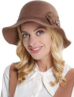 蒂芙莎 羊毛呢帽子女秋冬天韩版百搭英伦毛毡帽优雅名媛小礼帽盆帽