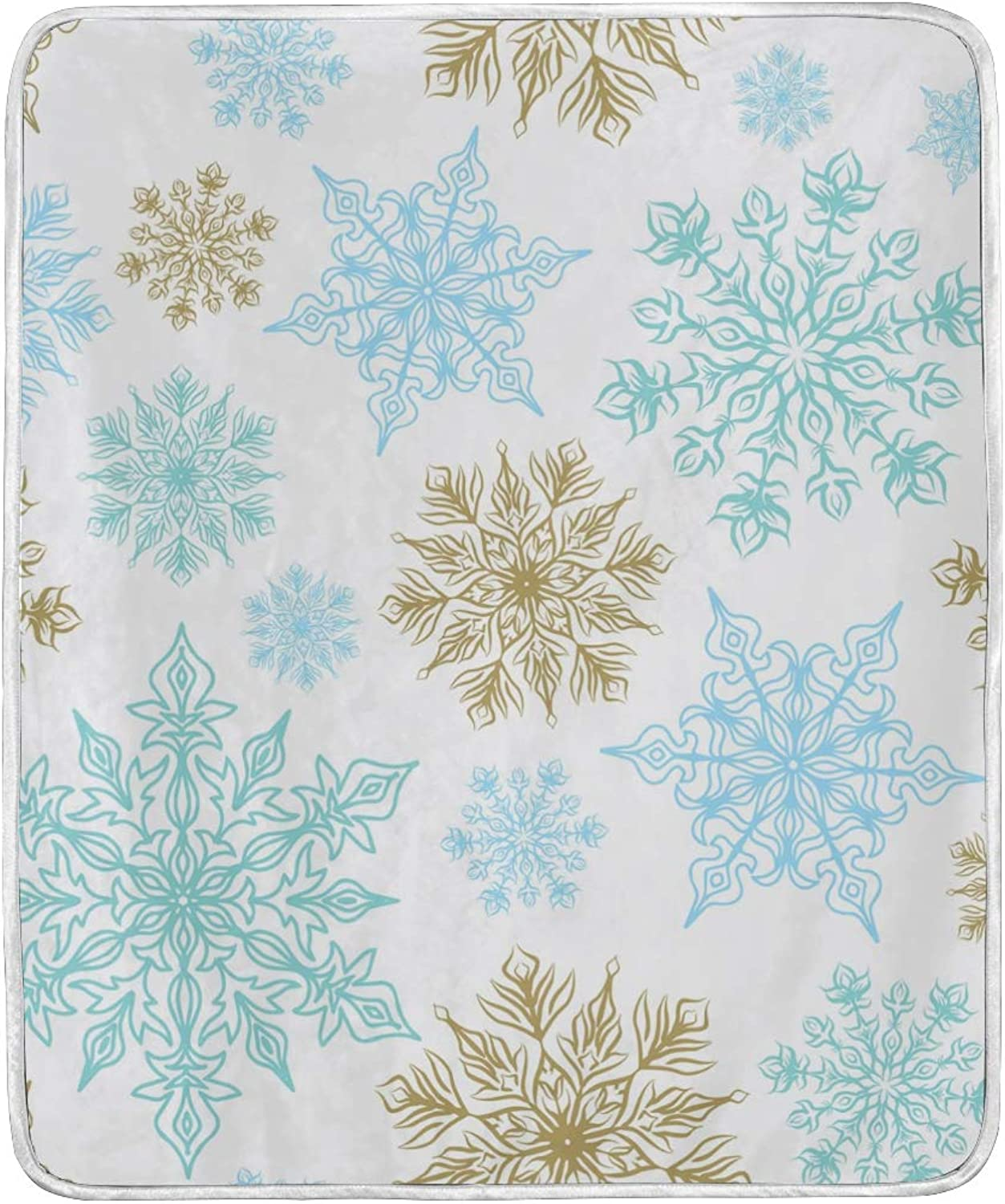 Christmas Year Winter Snowflakes Throw Blanket Soft Nap Couch Bed Blankets Kid Boy Girl Women Men 50x60 inch