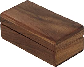 ShalinIndia Wooden Trinket Jewelry Box, Sleek and Simple Gift for Her, 4 X 2 X 1.5 Inches
