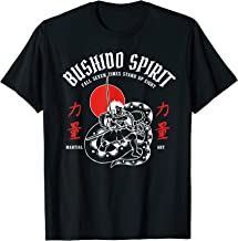 Bushido spirit. Samurai fights dragon, martial arts T-Shirt