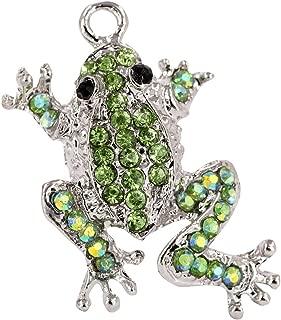 Creative DIY Green Leap Frog Charms Pendants Wholesale (Set of 3) MH425