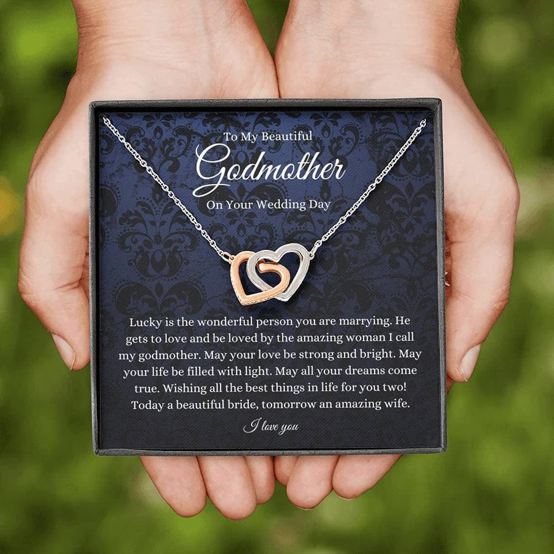 Interlocking Hearts to My Godmother Gift Industry No. 1 On Wedding Max 52% OFF Day Bri