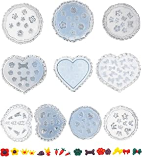 10 Pieces Nail Silicone Mold Nail Art Decoration Resin Casting Molds for Manicure Crystal DIY Template Manicure Tools (Sha...
