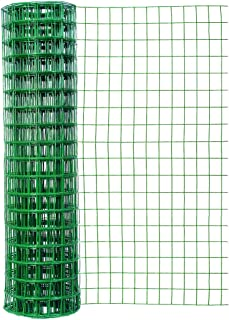 Origin Point Garden Zone 48 Inches x 50 Feet 16-Gauge Green Vinyl Garden Fence with 3 x 2 Inch Openings