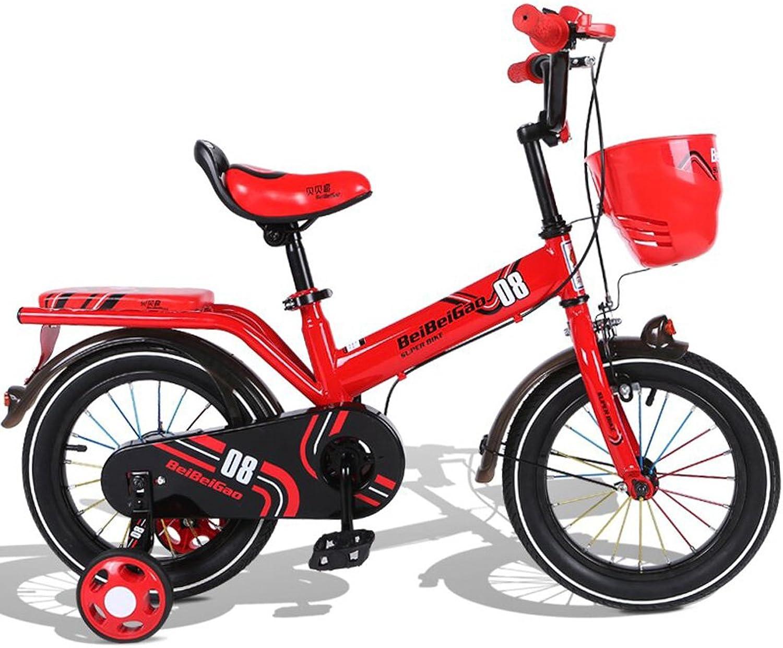 Fenfen Kinder Fahrrad 16 Zoll Kinderwagen 4-8 Jahre alt Kinder Fahrrad rot