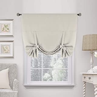 H.VERSAILTEX Thermal Insulated Blackout Curtain Tie Up Window Shade (Rod Pocket Panel) - 42