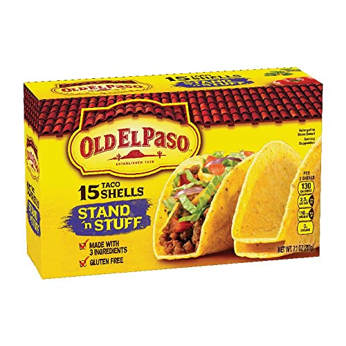 Old El Paso Taco Shells, Stand n Stuff, 15 Count