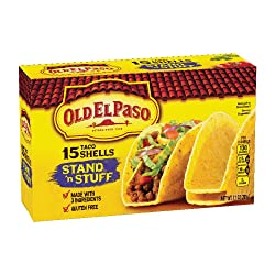 Old El Paso Taco Shells, Stand 'n Stuff, 15 Count