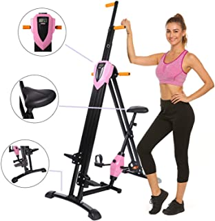 Hurbo Vertical Climber Home Gym Exercise Folding Climbing Machine Exercise Bike for Home Body Trainer Stepper Cardio Workout Training Non-Stick Grips Legs Arms Abs Calf