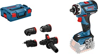 Bosch Professional 06019G7103 18V System Perceuse-visseuse sans-fil GSR 18V-60 C (FlexiClick, 4 Adaptateurs, Couple Maxi :...