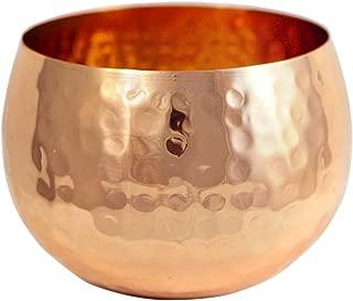 Premium Quality Medium Copper Decorative Bowl - 100% Pure Heavy Gauge Hammered Copper - By Alchemade - Rustic Antique Decor 16 oz Bowl