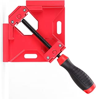 SEDY Right Angle Clamps,Single Handle 90° Aluminum Alloy Corner Clamp for Woodworking/Framing drilling doweling/Photo framing and more.-The Red of Christmas