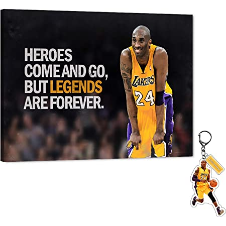 Kobe Bryant Legend Heroes Basketball Picture Print On Framed Canvas Wall Art