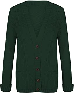 bottle green cardigan ladies